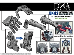 DNA Design DK-02 Fortress Maximus Upgrade Kits