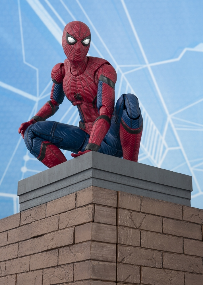 s h figuarts spider man homecoming with option act wall. Black Bedroom Furniture Sets. Home Design Ideas