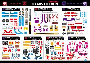 Hasbro Titans Return Wave 2 Sticker Sheet